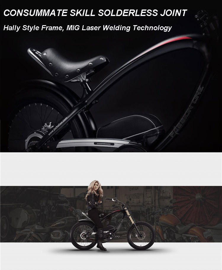 Electric harley style mountain bicycle for sale