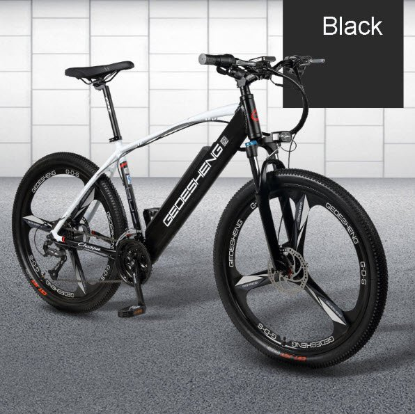 "Black 26"" inch Smart Electric Mountain Bicycle e-Bike 