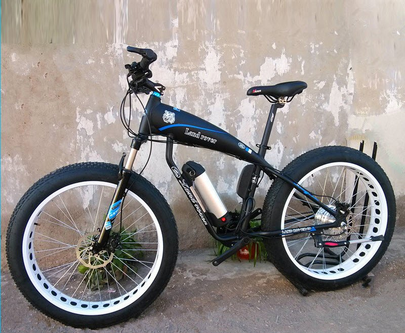 Black fat framed electric mountain bicycle for sale to buy