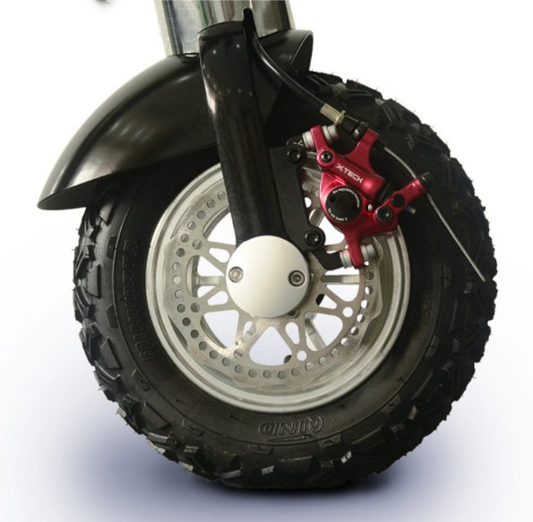 Wheel for a Folding electric battery powered scooter