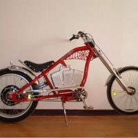 US style harley electric retro mountain bike for sale with spider web frame