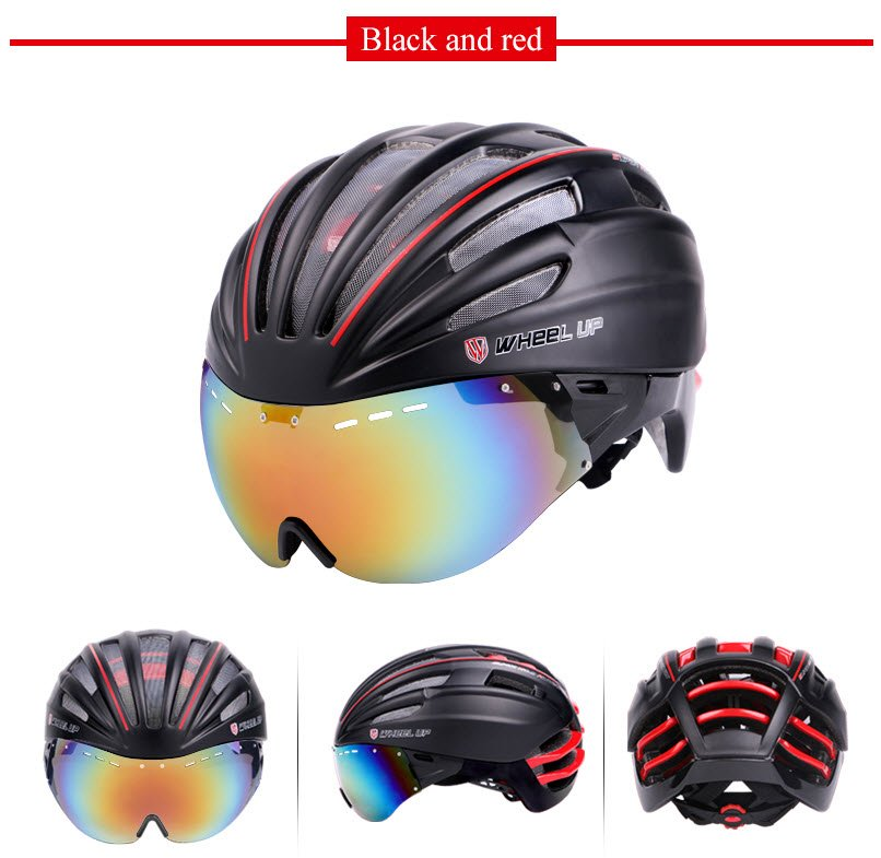 Black and red cycling safety protective helmet to buy