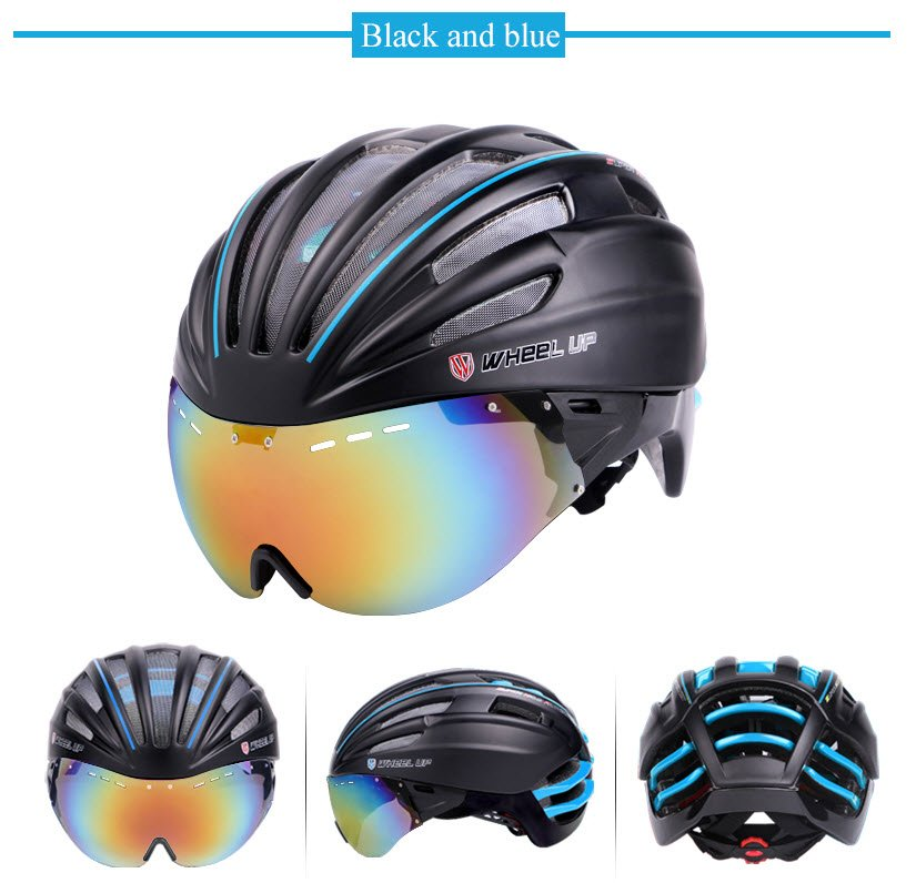 Black and blue cycling safety protective helmet to buy